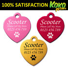 Heart Pet ID Tag Dog Puppy Cat Kitten Name Tags Personalised Engraved Aluminium