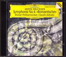 Claudio ABBADO: BRUCKNER Symphony No.4 Romantic Wiener Philharmoniker DG 1991 CD