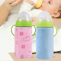 USB Baby Bottle Warmer Portable Heater Feeding Bag Cover Insulation Thermostat