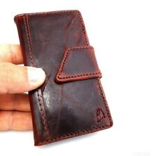 genuine vintage leather case for iphone 4s 4 cover book wallet Magnet Closes 4g