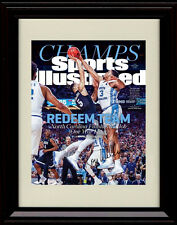 Framed 2017 North Carolina Tar Heels Sports Illustrated Autograph Print - Champs