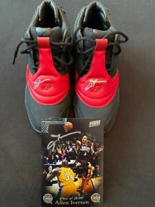 ALLEN IVERSON  AUTOGRAPHED REEBOK ANSWER 5 SHOES & HALL OF FAME PHOTO