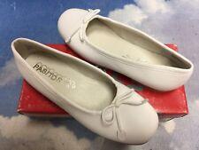 Pasitos White Leather Ballet Flats Size 35 / Women Size 5 / Youth Size 3.5