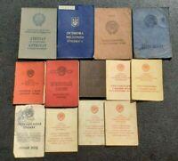 Soviet documents USSR Communist Documents ID Ticket Political  #13