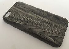 Apple Iphone 5C cover case protective hard back wood grain wooden oak black