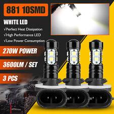 3x 270W 881 Led Headlight Bulbs For Polaris Sportsman 500 550 570 600 700 800 Xp