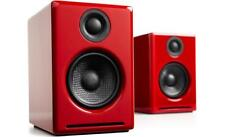 Audioengine A2+ Wireless Speaker System - Red- Free Shipping - NEW