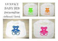 Funny Bibs Personalised Vinyl Toddler Bib Any Colour /& Name TEDDY BEAR Bib