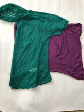 Lot Of 2 Maurices Tops - NWT! Size Xl Crocheted Hoodie, Sweater Wrap
