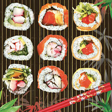 Servietten  Napkins 20 St. Pack.   Serviettentechnik  Sushi  Japan  Fisch