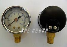New Pressure Gauge Water Oil Gas Air Compressor 15face 0 200 Lower Mnt 18npt