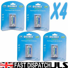 4 x 9V 220mAh rechargeable Ni-MH batteries Always Ready