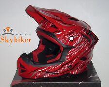 BMX Downhill Freeride Fahrrad Helm - Größe L - Rot