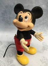 "MICKEY MOUSE  Disney Figurine - 4"" TALL - POSEABLE FIGURINE (crushed Velvet)"