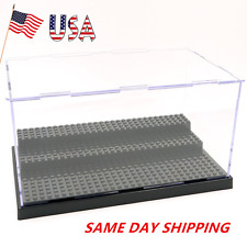 3 Steps Clear Acrylic Plastic Display Box Case Dustproof Tray Protection Box