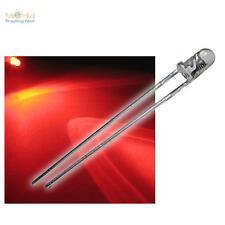 50 LED 3mm LAMPEGGIANTE Rosso trasparente lampeggiante Alarmdummy + Accessori