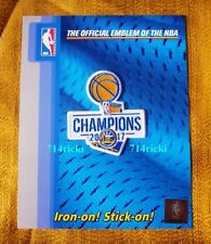 Official 2017 NBA Finals Champions Champs Golden State Warriors Small Patch