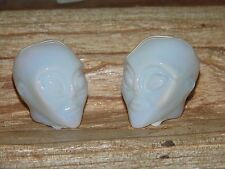 """1.5"""" Opalite Alien Skull Carved-Polished  Enhance Psychic Abilities Crown Chakra"""