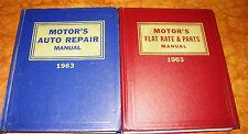 Pontiac Buick Corvette Mercury 1955 56 57 58 59 60 61 62 1963 Motors Manual Set