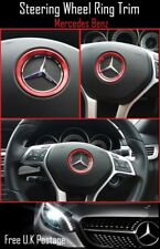 For Mercedes Benz Red Aluminum Steering Wheel Trim Ring 51mm