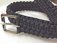BELT BLACK PARACORD  HANDMADE, ANY SIZE VERY COMFORTABLE!