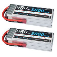 2pcs HRB 6S 22.2V 5000mAh 50C 100C LiPo Battery Trex 700 RC Drone Car Airplane