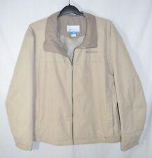 Columbia Jacket Windbreaker Khaki Tan Vented Zip Front & Pockets Men's XL