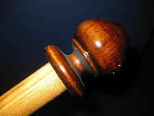 MW.234Mg: ANTIQUE WOOD SPINDLE TOP HANDLED WALKINGSTICK CANE