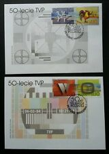 Poland 50 Years Of Television 2002 TVP TV Programme Roaster (FDC pair)