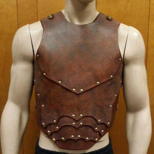Men's 2021 New Walkthrough Samurai Pu Leather Chest Protector Vest Props