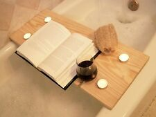 Handcrafted Wood Bath Tray- Pine-Caddy-wineglasstealight holder