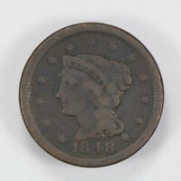 1848 BRAIDED HAIR 1C LARGE CENT ** NICE DETAIL Lot#J012