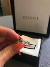 Authentic Gucci Ghost Ring Silver Size 20
