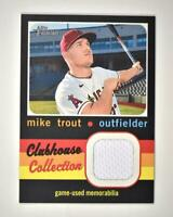 2020 Heritage High Number Clubhouse Collection Relic #CCR-MT Mike Trout