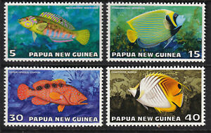 Papua New Guinea 1976 Tropical Fish Complete Set - MUH