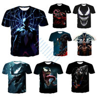 Men's Marvel Venom 3D T-Shirt Spider-Man Print Casual Tee Shirt Top Breathable