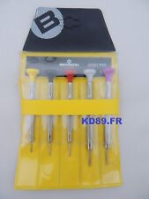 5 X Ergonomic Screwdriver Bergeon 30081-P05 for watchmakers SWISS MADE