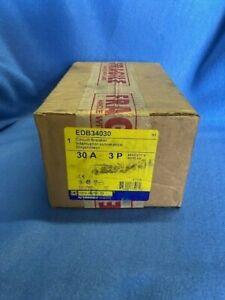 Square D EDB34030 Circuit Breaker, 30 Amp 3 Pole, 480/277V, New in box
