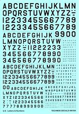 """Techmod Decals 1/48 U.S.Letters & Numbers In Black 3"""" to 24"""" Sizes"""
