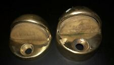 "2 Vintage Floor Mounted Dome Door Stop Stopper Holder Bumper  1/8""  1/2"""