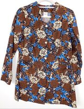 Premier Uniforms Scrub Jacket Charming Chinese Floral Chinese Collar Size S