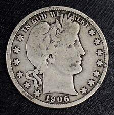 1906-D Barber Half Dollar  50C