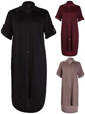 Casual Collared Calf Length Dresses Plus Size for Women