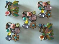 2 Hole Slider Beads Focal Beads Rose Beige #1