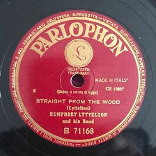 """RARE 78RPM 10"""" PARLOPHON HUMPHREY LYTTELTON AND HIS BAND STRAIGHT FROM THE WOOD"""