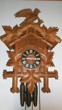 museum  black forest musical cuckoo clock with quail 3 weight chirp quarters