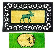 Kokosmatte Türmatte Elch - Schaf Wechselmatte rechteckig Fußabstreifer Abtreter