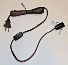 6' BROWN LAMP CORD SET WITH CLIP IN CANDELABRA SOCKET AND LINE SWITCH 46760JB