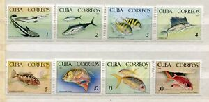 FAUNA_993 1965 marine life fish 8 pc MNH Combined payments & shipping