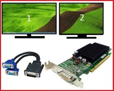 Dell Optiplex 745 755 760 SFF Low-Profile Dual VGA Monitors Video Card PCI-e x16
